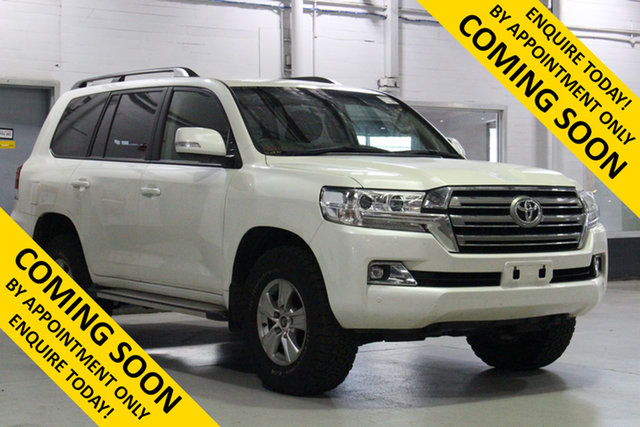 Used Toyota Landcruiser VDJ200R LC200 GXL (4x4), 2019 Toyota Landcruiser VDJ200R LC200 GXL (4x4) White 6 Speed Automatic Wagon
