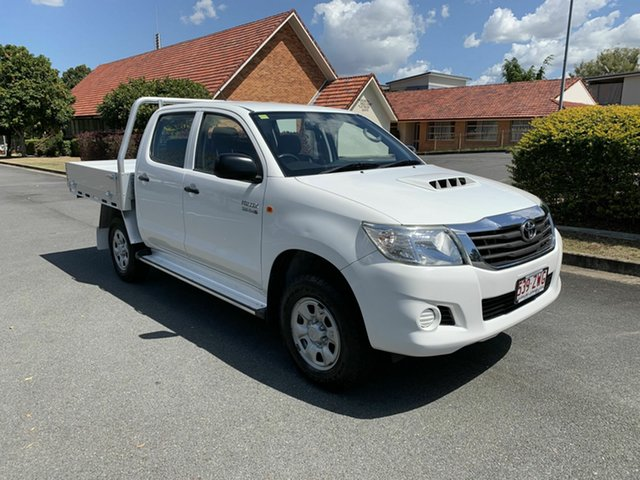 Used Toyota Hilux KUN26R SR, 2013 Toyota Hilux KUN26R SR White 4 Speed Automatic Dual Cab