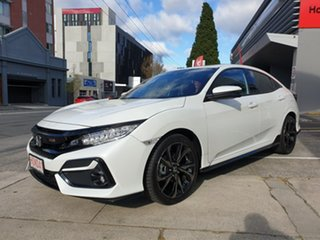 2020 Honda Civic 10th Gen MY20 RS White 1 Speed Constant Variable Hatchback