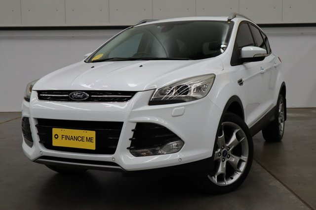 Used Ford Kuga TF MY15 Titanium PwrShift AWD, 2015 Ford Kuga TF MY15 Titanium PwrShift AWD White 6 Speed Automatic Wagon