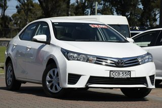 2015 Toyota Corolla ZRE172R Ascent S-CVT White 7 Speed Constant Variable Sedan.
