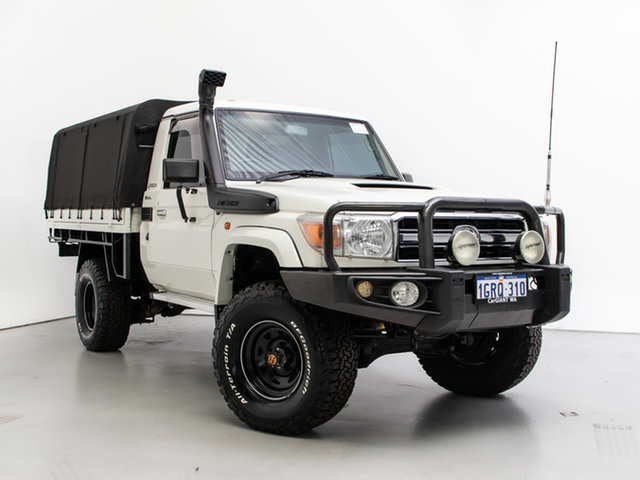 Used Toyota Landcruiser VDJ79R 09 Upgrade GXL (4x4), 2010 Toyota Landcruiser VDJ79R 09 Upgrade GXL (4x4) White 5 Speed Manual Cab Chassis