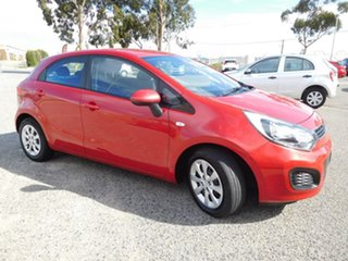 2013 Kia Rio UB MY13 S Red 6 Speed Manual Hatchback.