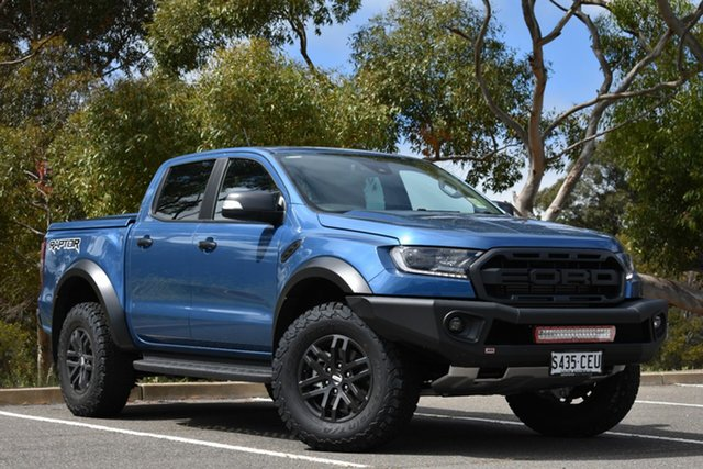 Demo Ford Ranger PX MkIII 2020.25MY Raptor, 2020 Ford Ranger PX MkIII 2020.25MY Raptor Performance Blue 10 Speed Sports Automatic