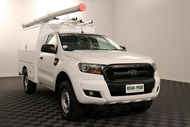 Used Ford Ranger PX MkII XL, 2016 Ford Ranger PX MkII XL White 6 speed Automatic Cab Chassis