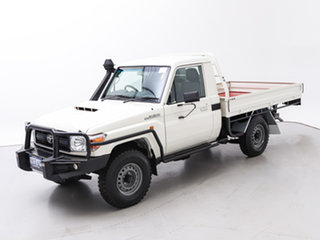2017 Toyota Landcruiser VDJ79R MY18 Workmate (4x4) White 5 Speed Manual Cab Chassis
