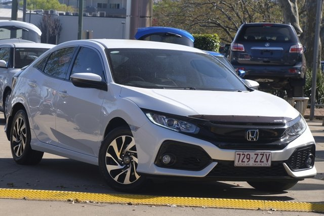 Used Honda Civic 10th Gen MY17 VTi-S, 2017 Honda Civic 10th Gen MY17 VTi-S White 1 Speed Constant Variable Hatchback