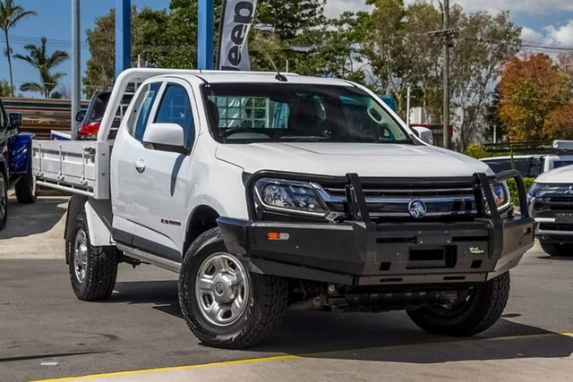 Used Holden Colorado RG MY17 LS Space Cab, 2017 Holden Colorado RG MY17 LS Space Cab White 6 Speed Manual Cab Chassis