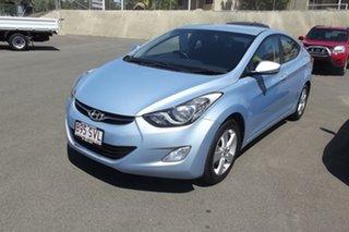 2012 Hyundai Elantra MD2 Elite Blue 6 Speed Sports Automatic Sedan.