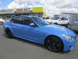 2014 BMW M3 F80 M-DCT Blue 7 Speed Sports Automatic Dual Clutch Sedan.