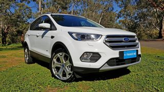 2018 Ford Escape ZG 2018.75MY Titanium White 6 Speed Sports Automatic Dual Clutch SUV.