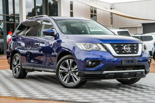 Used Nissan Pathfinder R52 Series III MY19 Ti X-tronic 4WD, 2020 Nissan Pathfinder R52 Series III MY19 Ti X-tronic 4WD Caspian Blue 1 Speed Constant Variable