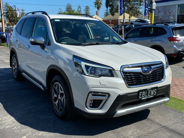 Demo Subaru Forester S5 MY20 Hybrid L CVT AWD Glenelg, 2020 Subaru Forester S5 MY20 Hybrid L CVT AWD Crystal White 7 Speed Constant Variable Wagon Hybrid