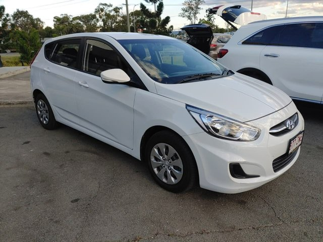 Used Hyundai Accent RB4 MY17 Active, 2017 Hyundai Accent RB4 MY17 Active White 6 Speed Constant Variable Hatchback