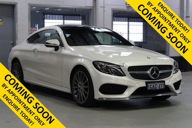 Used Mercedes-Benz C300 205 MY16 , 2016 Mercedes-Benz C300 205 MY16 Diamond White 7 Speed Automatic Coupe