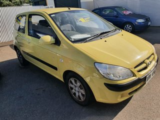 2007 Hyundai Getz TB MY07 SX Yellow 5 Speed Manual Hatchback.