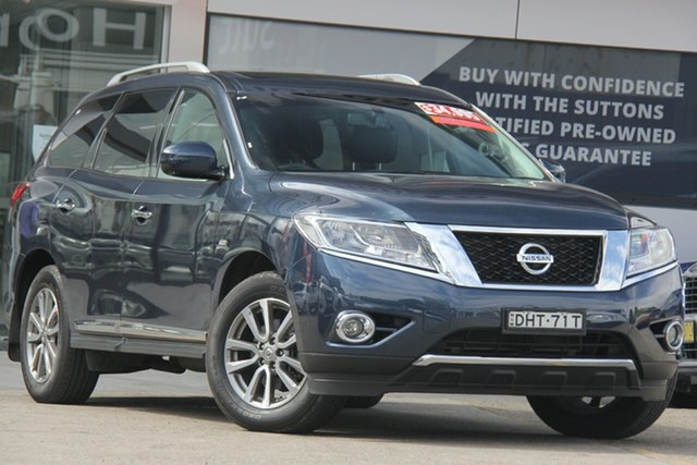 Used Nissan Pathfinder R52 MY15 Upgrade ST-L (4x2), 2016 Nissan Pathfinder R52 MY15 Upgrade ST-L (4x2) Blue Continuous Variable Wagon