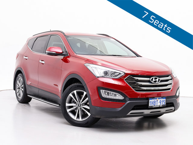Used Hyundai Santa Fe DM Series II (DM3) Elite CRDi (4x4), 2015 Hyundai Santa Fe DM Series II (DM3) Elite CRDi (4x4) Red 6 Speed Automatic Wagon