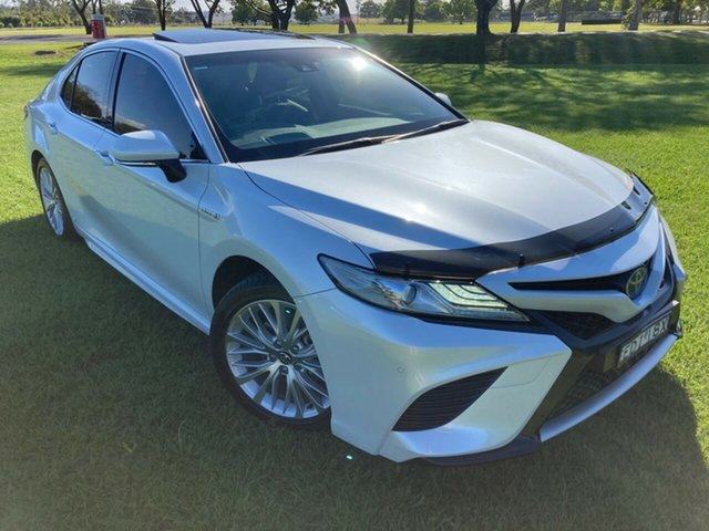 Used Toyota Camry AXVH71R SL, 2019 Toyota Camry AXVH71R SL Frosted White 6 Speed Constant Variable Sedan Hybrid