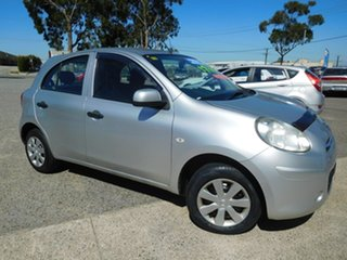 2012 Nissan Micra K13 ST Silver 5 Speed Manual Hatchback.