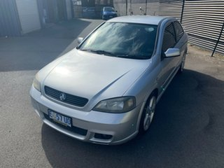 2003 Holden Astra TS MY03 SRI Turbo Silver 5 Speed Manual Hatchback.