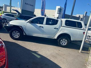 2013 Mitsubishi Triton MN MY13 GLX Double Cab White 5 Speed Manual Utility.