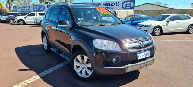 Used Holden Captiva CG MY10 LX AWD East Bunbury, 2010 Holden Captiva CG MY10 LX AWD Black 5 Speed Sports Automatic Wagon