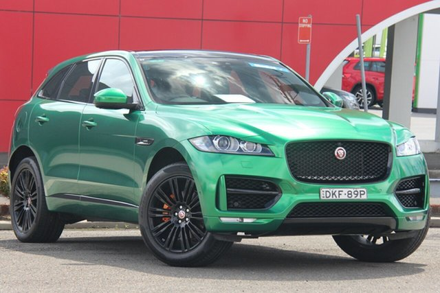Used Jaguar F-PACE X761 MY17 30d AWD R-Sport, 2016 Jaguar F-PACE X761 MY17 30d AWD R-Sport Green 8 Speed Sports Automatic Wagon