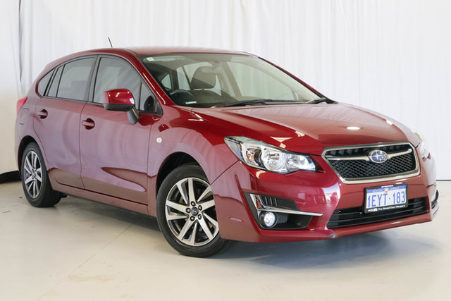 Used Subaru Impreza G4 MY16 2.0i Lineartronic AWD Premium, 2016 Subaru Impreza G4 MY16 2.0i Lineartronic AWD Premium Red 6 Speed Constant Variable Hatchback