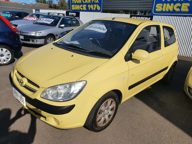 Used Hyundai Getz TB MY07 SX Morphett Vale, 2007 Hyundai Getz TB MY07 SX Yellow 5 Speed Manual Hatchback