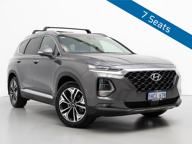 Used Hyundai Santa Fe TM.2 MY20 Highlander CRDi Blk-BGE (AWD), 2020 Hyundai Santa Fe TM.2 MY20 Highlander CRDi Blk-BGE (AWD) Grey 8 Speed Automatic Wagon