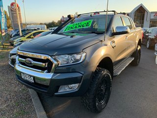 2015 Ford Ranger PX MkII XLT Double Cab Grey 6 Speed Manual Utility.