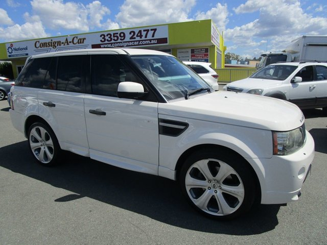 Used Land Rover Range Rover Sport L320 10MY TDV6 Kedron, 2010 Land Rover Range Rover Sport L320 10MY TDV6 White 6 Speed Sports Automatic Wagon