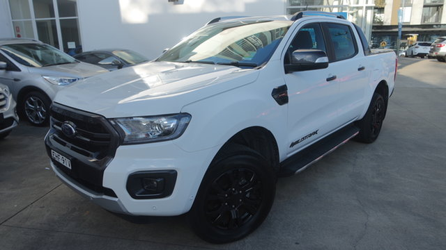 Used Ford Ranger PX MkIII 2019.75MY Wildtrak, 2019 Ford Ranger PX MkIII 2019.75MY Wildtrak Arctic White 10 Speed Sports Automatic