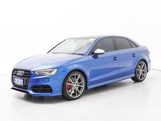2016 Audi S3 8V MY15 2.0 TFSI Quattro Blue 6 Speed Direct Shift Sedan.