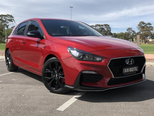 Used Hyundai i30 PD.3 MY19 N Line D-CT, 2018 Hyundai i30 PD.3 MY19 N Line D-CT Red 7 Speed Sports Automatic Dual Clutch Hatchback