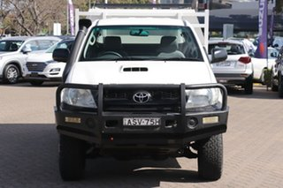 2010 Toyota Hilux KUN26R 09 Upgrade SR (4x4) White 5 Speed Manual X Cab Cab Chassis