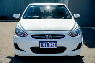 2015 Hyundai Accent RB2 MY15 Active White 6 Speed Manual Sedan