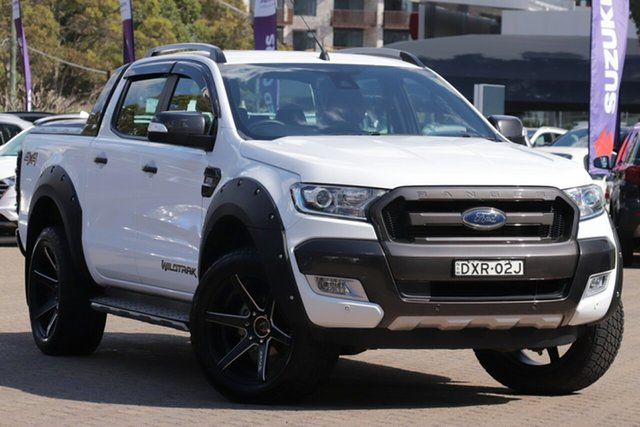 Used Ford Ranger PX MkII MY18 Wildtrak 3.2 (4x4), 2018 Ford Ranger PX MkII MY18 Wildtrak 3.2 (4x4) White 6 Speed Automatic Dual Cab Pick-up
