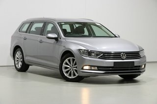 2018 Volkswagen Passat 3C MY18 132 TSI Comfortline Pyrite Silver 7 Speed Auto Direct Shift Wagon.