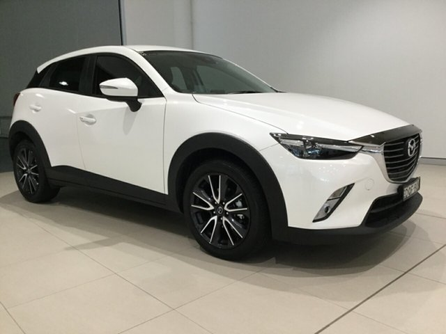 Used Mazda CX-3 DK2W7A sTouring SKYACTIV-Drive, 2017 Mazda CX-3 DK2W7A sTouring SKYACTIV-Drive White 6 Speed Sports Automatic Wagon