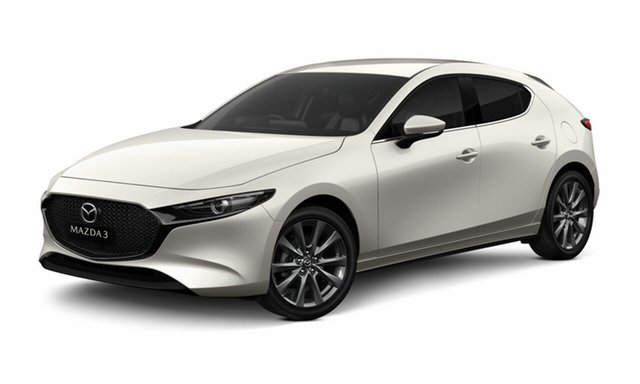 Demo Mazda 3 BP2HLA , 2020 Mazda 3 BP2HLA G25 SKYACTIV-DRIVE EVOLVE VISION TECHNOLOGY Snowflake White Pearl 6 Speed