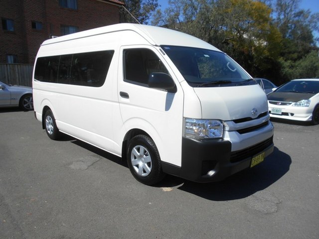 Used Toyota HiAce TRH223R MY16 Commuter, 2016 Toyota HiAce TRH223R MY16 Commuter White 6 Speed Automatic Bus