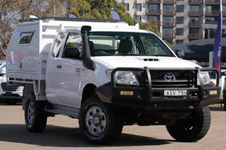 2010 Toyota Hilux KUN26R 09 Upgrade SR (4x4) White 5 Speed Manual X Cab Cab Chassis.