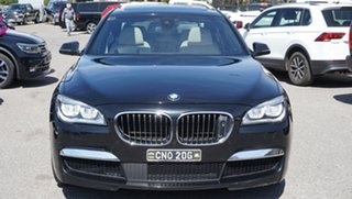 2013 BMW 7 Series F01 LCI 740i Steptronic Black 8 Speed Sports Automatic Sedan.