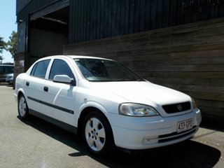 2002 Holden Astra TS MY03 CD White 4 Speed Automatic Sedan.