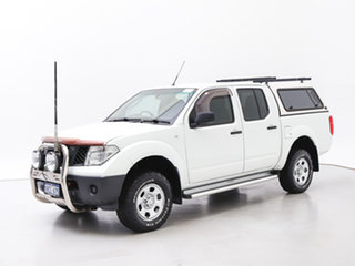 2006 Nissan Navara D40 RX (4x4) White 6 Speed Manual Dual Cab Pick-up.