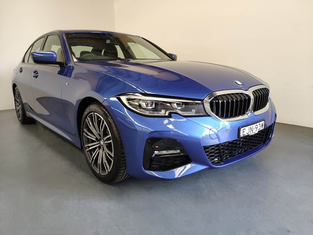 Demo BMW 3 Series G20 320i Steptronic M Sport, 2020 BMW 3 Series G20 320i Steptronic M Sport Portimao Blue 8 Speed Sports Automatic Sedan
