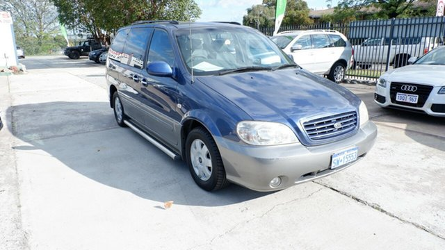Used Kia Carnival MY04 LS, 2003 Kia Carnival MY04 LS Blue 4 Speed Automatic Wagon