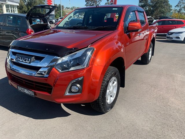 Used Isuzu D-MAX MY17 LS-M Crew Cab, 2017 Isuzu D-MAX MY17 LS-M Crew Cab Orange 6 Speed Sports Automatic Utility